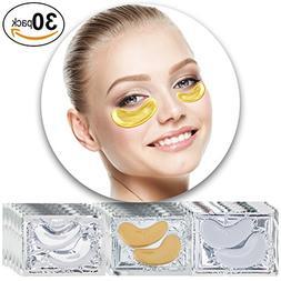 Anti Aging Set of 30 Pairs Eyes 24 K Gold Golden, Milk White