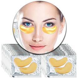 Anti Aging Treatments Set Kit of 20 Pairs Eyes 24 K Gold Gol