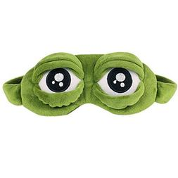 Ayygiftideas Creative Cartoon Frog Eye Mask Fluff Cute Sleep