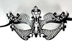 Black Royal Class 2nd Desgin Laser Cut Venetian Masquerade M