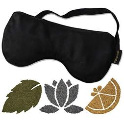 Calm & Cozy Premium Eye Pillow   Weighted with Flaxseed & In