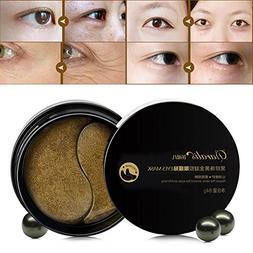 Eye Mask HUBEE Black Pearl Lady Gold Moisturize Remove Dark