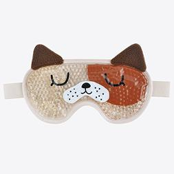 Face Mask Eye Mask with Elastic Strap, Ice Eye Mask with Fle
