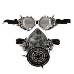 Fityle Magideal Steampunk Mask Goggles Cosplay Retro Eyeglas