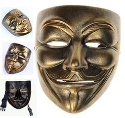Gmasking Bronze Resin V for Vendetta Guy Fawkes Anonymous Ma