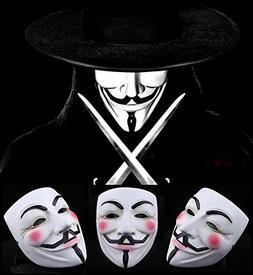 Gmasking White Resin V for Vendetta Guy Fawkes Anonymous Mas