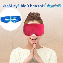 Grinigh Sleep Hot and Cold Steam Eye Mask,USB Heated Mugwort