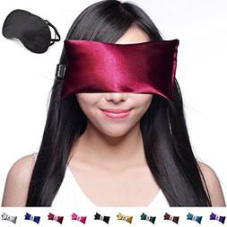 Hot Cold Lavender Eye Pillow and Eye Mask for Sleep, Yoga, M