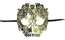 KAYSO INC Metal Day of The Dead Skull Laser Cut Masquerade M