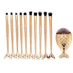 KaiCran Professional Brush 11PCS Make Up Foundation Eyebrow