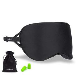 Kimkoo Silk Sleep Mask - Soft Eye Mask for Sleeping with Adj