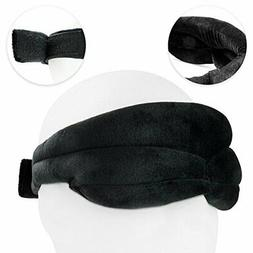 Nighttime Sleep Mask w/ Padded Memory Foam, Velvet Fit Conto