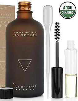 Organic Castor Oil  USDA Certified, Unrefined, 100% Pure, Co