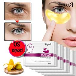 Ourhomer 20 Pairs Facial Mask Acne Whitening Mango Collagen