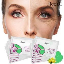 Ourhomer 5 Pairs Facial Mask Acne Whitening Collagen Eye Zon