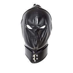 Outtymate Leather Full Face Gimp Mask Unisex Hood Zipper Eye