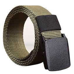 PENGYGY Men's Outdoor Sports Nylon Belt Canvas Web Belt Dazz