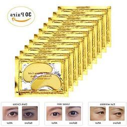Rotus 30 Pairs Gold Eye Mask Power Crystal Gel Collagen Mask