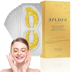 SAILINE 2018 New Deep Sea Fish Collagen 24K Gold Eye Mask Fo