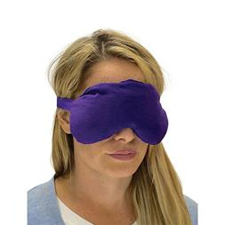 Sensacare Hot & Cold Natural Therapy Lavender Eye Mask, Purp