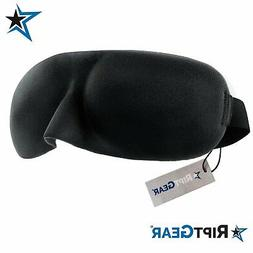 Sleep Mask for Women and Men by RiptGear - 3D Contoured Ultr