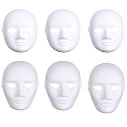 Soochat White DIY Mask,Halloween Mask, Full Face Mask,Dance