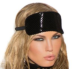 Vinyl Blindfold Eye Mask Role Play Accessory, One Size, Blac