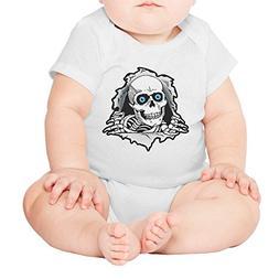 Xanx Smon Baby Onesies Bodysuit Blue Eyes Skull Organic Clot