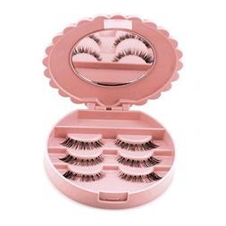 LtrottedJ Acrylic Cute Bow False Eyelash Storage Box Makeup