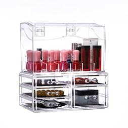 CY craft Makeup Organizer Countertop, Acrylic Cosmetic Stora