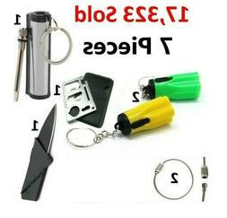 Waterproof Match Permanent Lighter Striker Fire Starter Emer