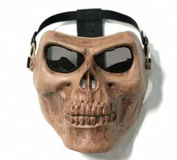 Adjustable Full Face Eye Protection Tactical Gear Skull Mask