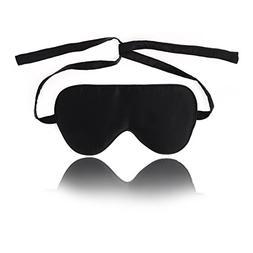 uxcell Adjustable Straps Natural Silk Sleep Mask Blindfold S