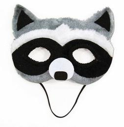 Adult Child  Raccoon Animal Masquerade Eye Mask Faux Fur Hal