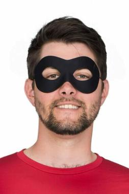 Adult Unisex Superhero Black Eye Mask Costume Accessory