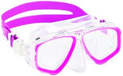 Speedo Adventure Dive Mask, Pink Frost, One Size