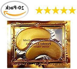 20 Pair/40 Pcs Anti Aging Crystal 24k Gold Collagen Eye Mask