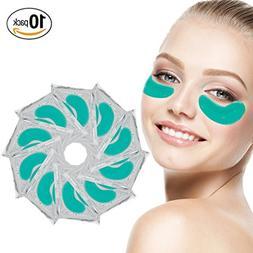 Anti Aging Set of 10 Pairs Green Aloe Vera Collagen Eyes Mas