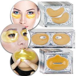 Anti Aging Set Kit Lot of 24 K Gold Golden Collagen Gel Crys