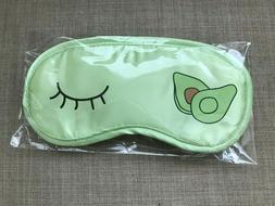 avocado satin eye mask sleeping night green
