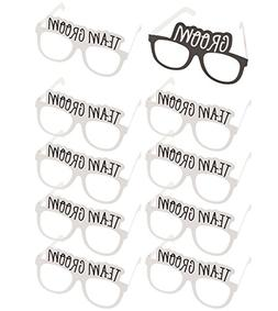 Bachelor Party Sunglasses - 10-Pack of Wedding Photo Booth P
