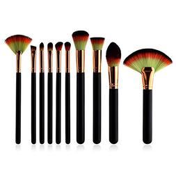 KaiCran 10 Pcs Beauty Makeup Brushes Set Advanced Beauty Cos