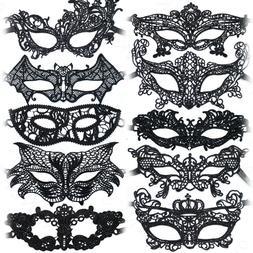 Black Lace Mask Masquerade Eye Face Eyemask Women Party Hall