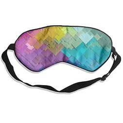 yan Blinder 7 Colour Letter 100% Natural Silk Sleep Mask,Adj