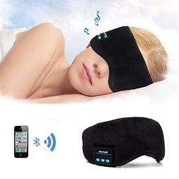 MOLYHUA Bluetooth Sleeping Eye Mask Black, Wireless Bluetoot