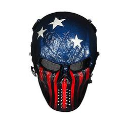 Captain Skull Tactical Airsoft/BB Gun/CS Full Face Protect M