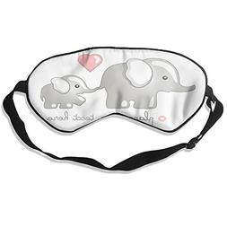Cartoon Cute Elephant Holding Baby Elephant Pure Silk Sleepi
