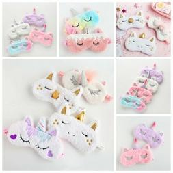Cartoon Unicorn Eye Mask Soft Padded Sleep Mask Plush Eye-sh
