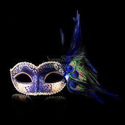 Classic Venetian Elegant Swan w/ Peacock Feathers Design Las
