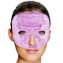 FOMI Hot Cold Gel Bead Facial Eye Mask | Lavender Scented |